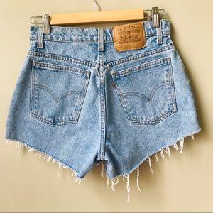 Vintage Levi's Cutoff Jean Shorts Size 27 Blue